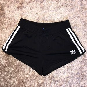 black adidas originals track shorts size small